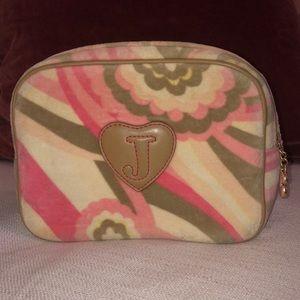 JUICY COUTURE - pink terry cloth makeup bag